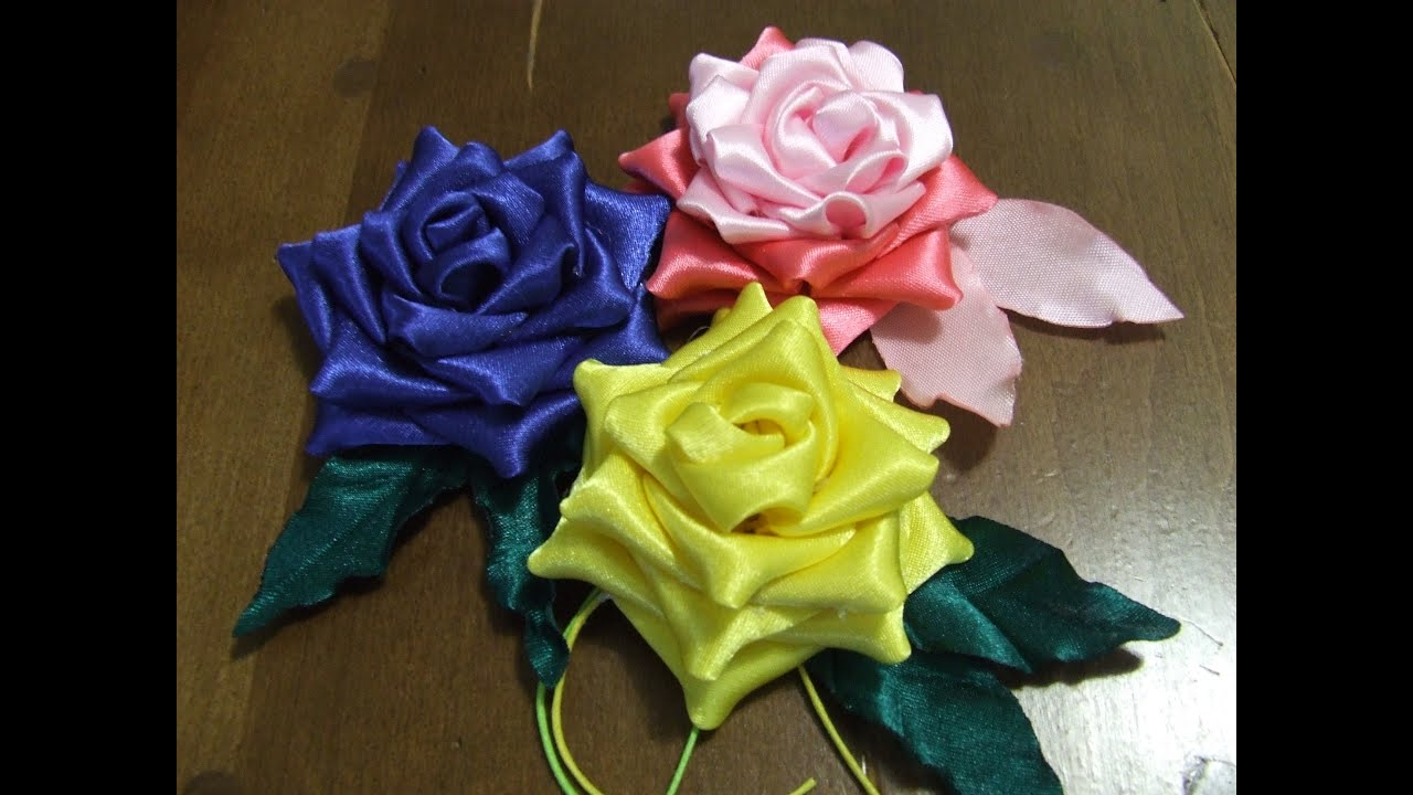 Цветы из ткани своими руками ленты 181