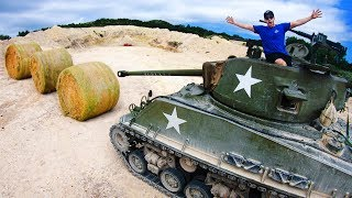 Can Hay Bales STOP a TANK ROUND?