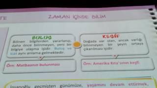 7. Sınıf sosyal bilgiler zaman içinde bilim ünitesi