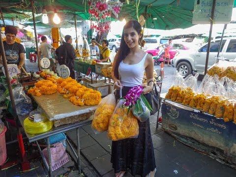 Flower Market in Bangkok - Thailand + My Destiny Vine Making Off