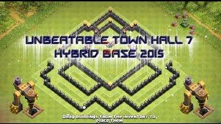 """Unbeatable Town Hall 7 Hybrid Base"" 