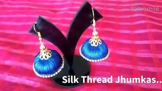 DIY | Silk Thread Jhumkas | Fashion Jewellery
