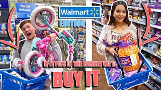 WHATEVER FITS IN THE BASKET, WE'LL BUY IT!!!  *WALMART EDITION*