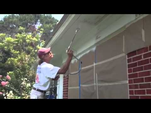 Painting Exterior Gutters Soffit Freeze Board