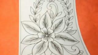 Cara Menggambar Bunga Motif Batik #34