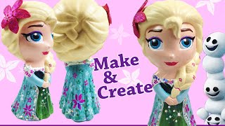 FROZEN ELSA paint your own doll  / Queen Elsa Disney Toy custom elsa figure
