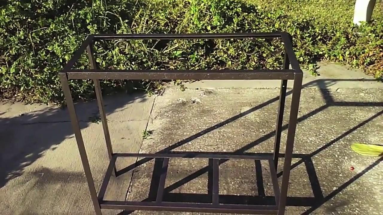 Refinishing Wrought Iron Stand - YouTube