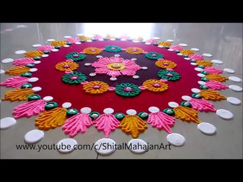 Innovative and Creative Rangoli Designs# Kolam Designs# Muggulu by Shital Mahajan.
