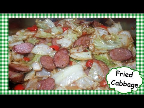 BEST Fried Cabbage With Sausage Onions Peppers ~ Cabbage Stir Fry Recipe