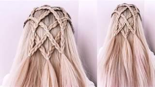 Причёска из кос ОЧЕНЬ ПРОСТО Летняя причёска для длинных волос Peinado facil y rapido