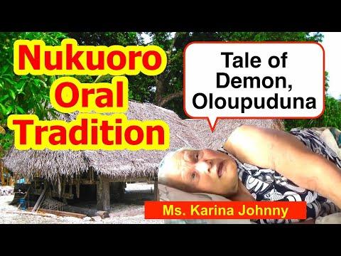 Tale of a Demon named Oloupuduna, Nukuoro
