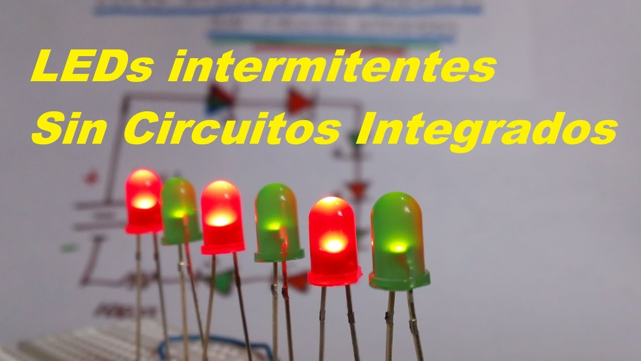 Circuito Led Intermitente : Leds intermitentes sin circuito integrado facil de hacer