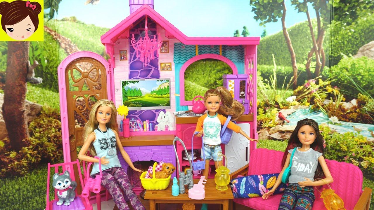 Barbie caba a de campo juguetes de barbie en espa ol for La cabana divertida