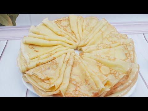 Тонкие блины без заморочек// самые нежные, вкусные и простые в приготовлении тонкие блины