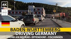 🚙 🇩🇪【4K】Driving Germany • BADEN-WÜRTTEMBERG • Horb am Neckar • Epfendorf • Fischingen • POV drive