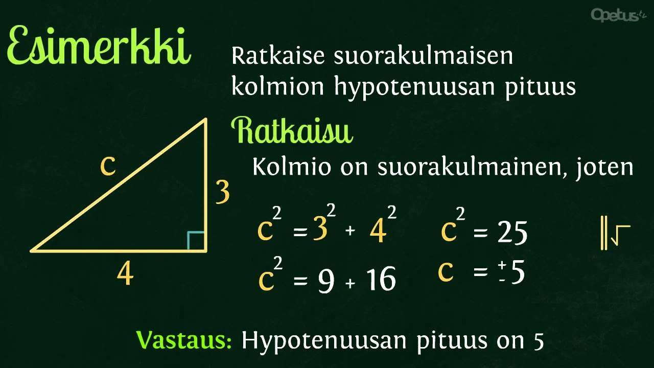 Pythagoraan lause laskuri