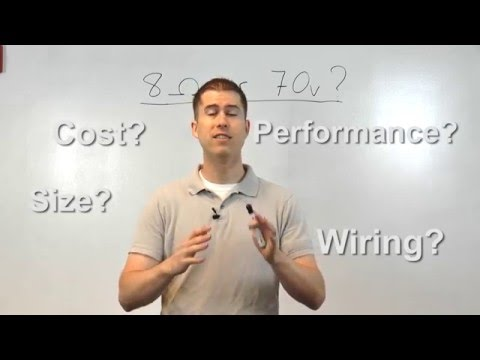 Differences between 8-Ohm and 70-Volt Systems - YouTube