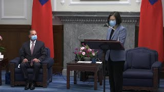 Taiwan President Tsai, U.S. Health Chief Azar Speak