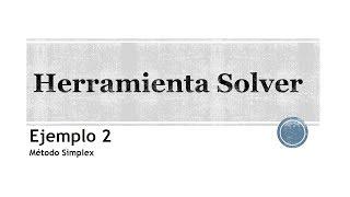 Excel: Uso del complemento Solver (Ejemplo 2)