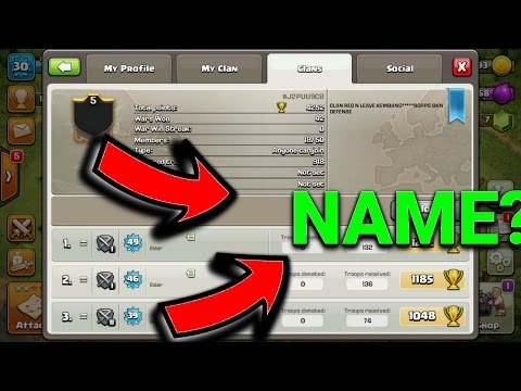 EVERY PLAYER IN THIS CLAN HAVE NO NAME! Clash Of Clans | A CLAN WITHOUT NAME?