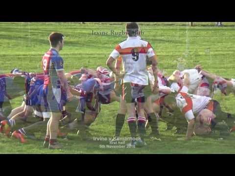 2016-Nov-5th  -  Irvine Rugby Club   Irvine v Kilmarnock 1st half