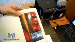 видео Печать на фотобумаге