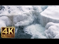 4K Winter Waterfall Scene - Probiy Waterfall, the Carpathians, Ukraine - Trailer 48