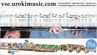 Уроки флейты Axel F - Crazy Frog Ноты Самоучитель um-i821
