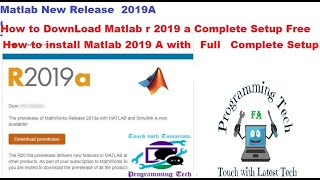 How To Download And Install Matlab  2019A Full With Activation  For Windows