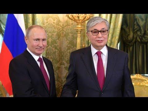Путин и Токаев принимают участие в Межрегиональном форуме сотрудничества России и Казахстана