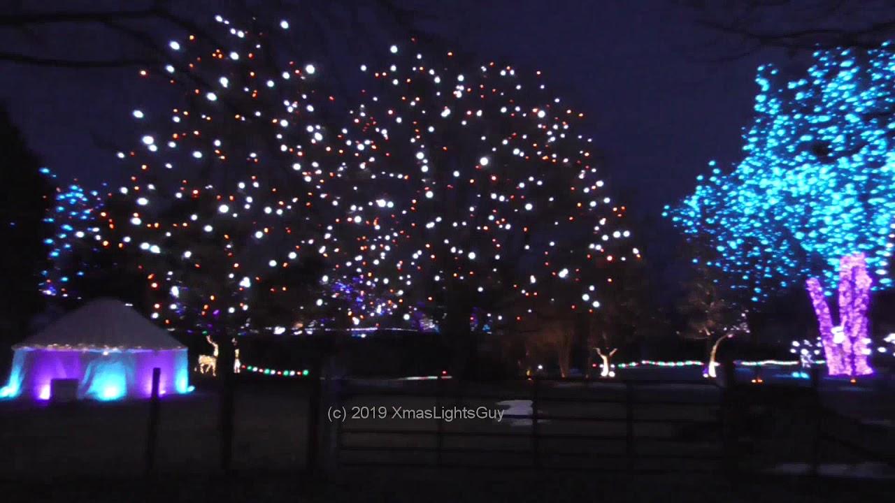 2019 Hudson Gardens Christmas Lights Display Littleton Co Youtube