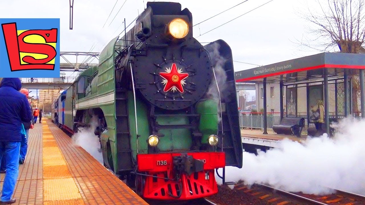 Настоящий Паровоз из прошлого Ретро поезд поездка по Железной дороге