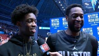 Dwyane Wade & Zaire Wade speaks at All-Star Media Day