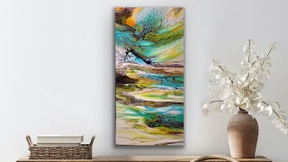 346.  GORGEOUS Abstract Fluid Art Painting!! / blooms technique / bloom recipe