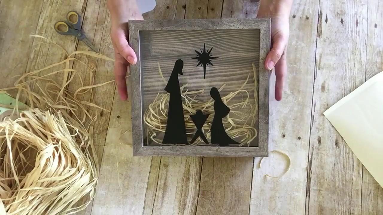 large shadow box nativity