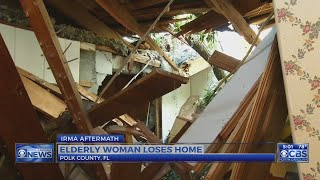 Elderly Florida woman loses home in Irma