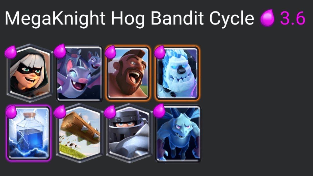 Mega Knight Hog Bandit Cycle Deck Youtube