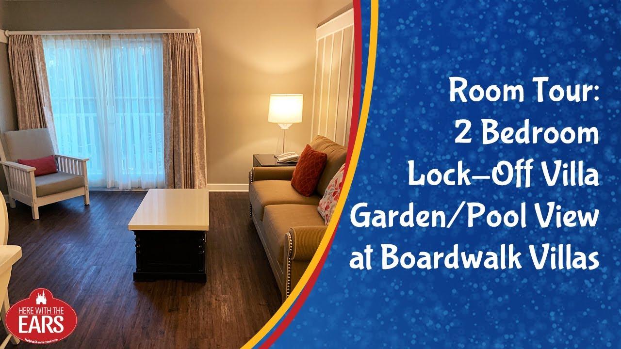 Boardwalk Villas 2 Bedroom Villa Garden Pool View Room Tour Youtube