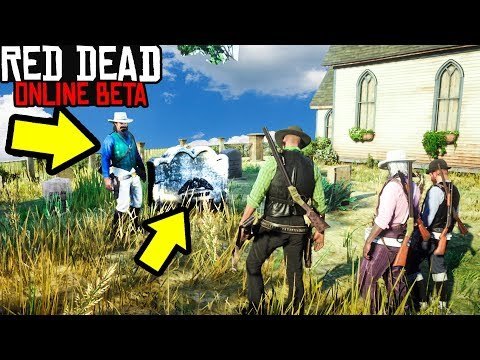 KID HOLDS FUNERAL FOR FRIEND in Red Dead Online! Red Dead Redemption 2 Online!