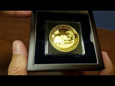 2019 Somalia 1 oz Gold African Elephant in BU