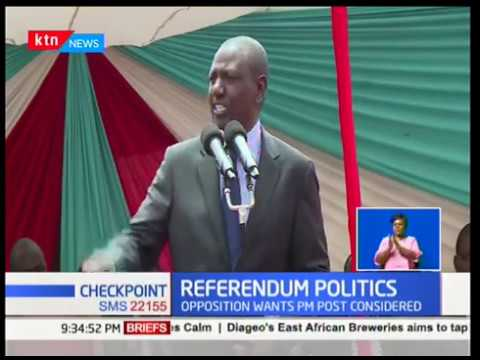 DP William Ruto campaigns against referendum  to ammend the constitution