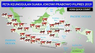 Perolehan Suara Jokowi Prabowo Pilpres 2019 di 34 Provinsi Versi Quick Count Poltracking