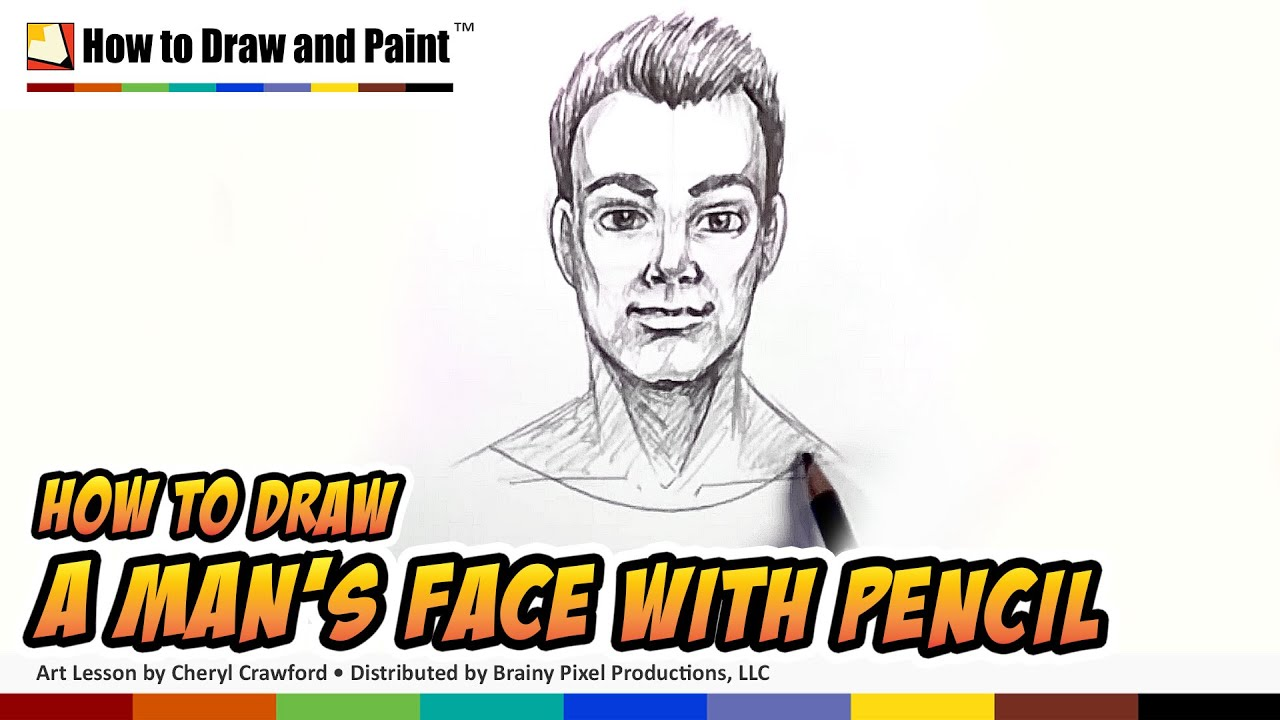 How to draw a man face with pencil how to draw a person cc