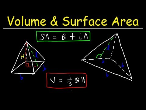 Surface Area of a Pyramid & Volume of Square Pyramids & Tria