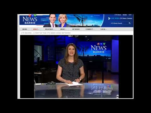CTV News Barrie Trent Playing Shinney