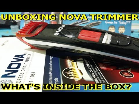 Nova Trimmer Unboxing | Nova NHT 1086 Trimmer Unpacking | What Given in the Box by Flipkart