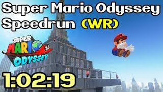 Super Mario Odyssey Any% Speedrun in 1:02:19 (World Record - June 9th / 2018)