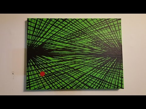 """Abstract Painting Art Demo - """"Life Lines 6"""" Embrace The Matrix"""