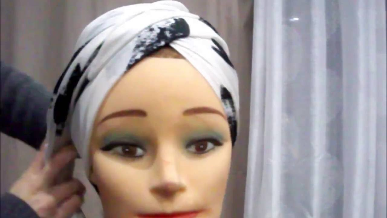 comment nouer un foulard partie2 turban tutorial youtube. Black Bedroom Furniture Sets. Home Design Ideas