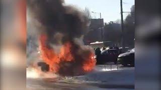 На парковке сгорел Citroen С4